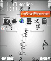 Animated Stick Man es el tema de pantalla