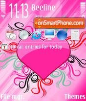Pink Heart 03 theme screenshot