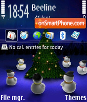 Christmas Night theme screenshot