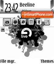 Live tema screenshot