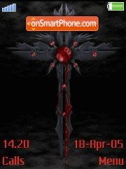 Gothic cross theme screenshot