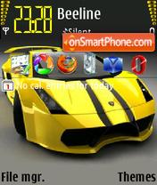 Скриншот темы Lamborghini Gallardo 2