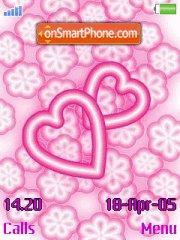 Pink hearts es el tema de pantalla