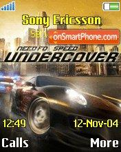 Need for Speed: Undercover es el tema de pantalla
