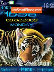 SWF clock Tiger es el tema de pantalla