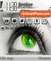 Green Eye by Melomen theme screenshot