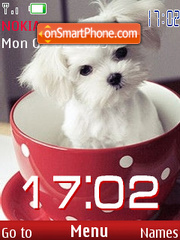 SWF clock puppy theme screenshot