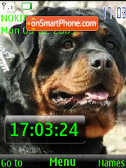 SWF clock rottweiler theme screenshot