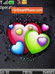 Colour Hearts tema screenshot
