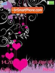 Abstract Heart tema screenshot