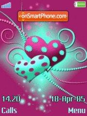 Hearts tema screenshot