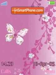 Pink butterfly tema screenshot