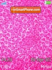 Pink hearts tema screenshot