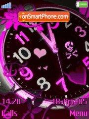 Pink Clock tema screenshot