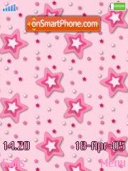 Pink stars tema screenshot