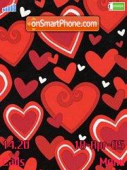 Red Hearts tema screenshot