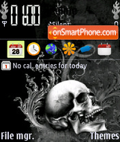 Dark Skull theme screenshot