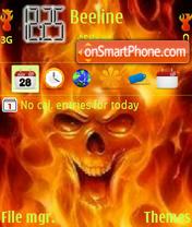 Fire Skull V8 theme screenshot