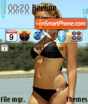 Girl in Dark Bikini theme screenshot