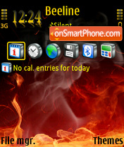 Fire theme screenshot
