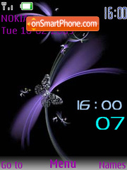 Swf purple Clock Theme-Screenshot