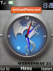 Dragon Clock SWF es el tema de pantalla