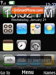 Iphone Clock SWF theme screenshot