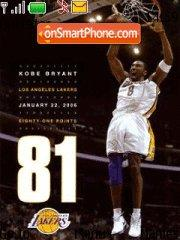 Kobe Bryant 01 theme screenshot