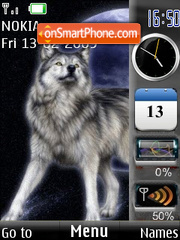 SWF clock $ indic wolf theme screenshot
