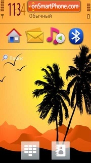 Palm Trees s60 v5 theme screenshot