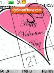 Happy Valentines Day 01 theme screenshot