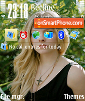 Avril Lavigne 16 theme screenshot