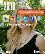 Скриншот темы Avril Lavigne 16