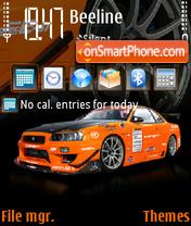 Nissan Skyline GTR 07 theme screenshot