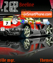 Sports Car theme screenshot