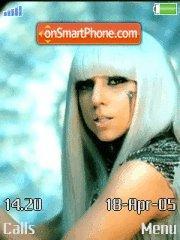 Lady Gaga theme screenshot