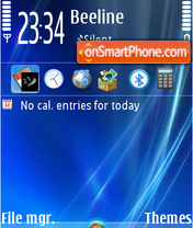 Blue Vista 03 theme screenshot