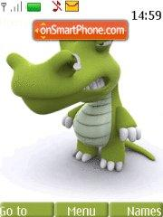 Funny Green Animal theme screenshot