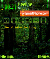 Deep Forest theme screenshot