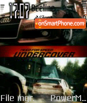 NFS Undercover theme screenshot