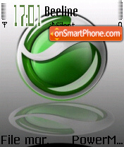 Sony Ericsson theme screenshot