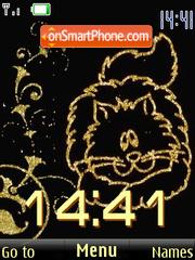 SWF clock cats es el tema de pantalla