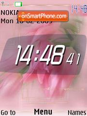 Pink Roses flash 1.1 theme screenshot
