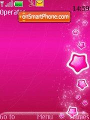 Pink Stars theme screenshot