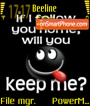 Keep Me es el tema de pantalla