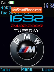 SWF clock BMW logo Theme-Screenshot