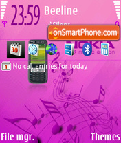 73me Pink tema screenshot