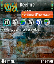 Graffiti 07 tema screenshot