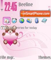 Pink Heart 04 theme screenshot