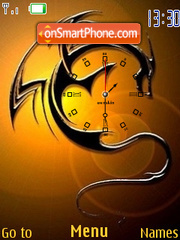 Dragon Clock SWF 01 theme screenshot